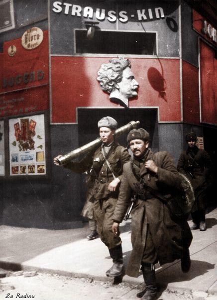 Soviet soldiers in Vienna 1945: