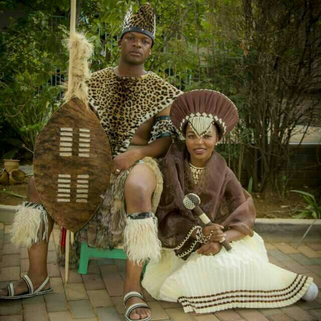 Traditional Zulu wedding attire