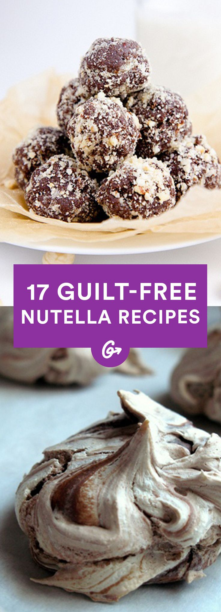 *Drools* #nutella #desserts http://greatist.com/health/healthy-nutella-recipes