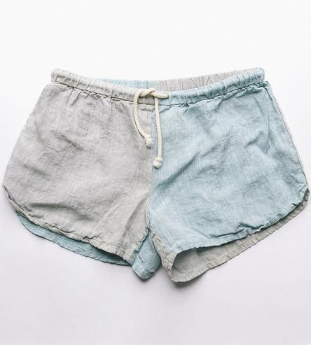 These casual pull-on linen shorts are just as comfortable inside as they are poolside. Easy to pack, and to pull on these shorts dry quickly and will gain softness with multiple washes.