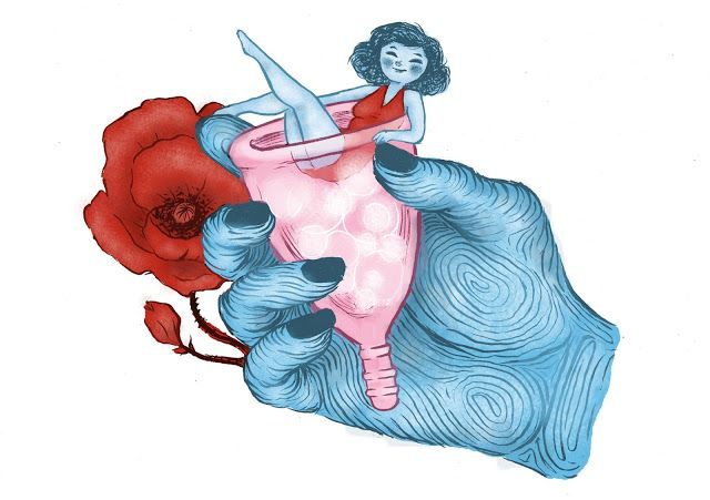 Beautiful illustration of a pink menstrual cup! Read more about menstrual cups on http://menstrualcup.co