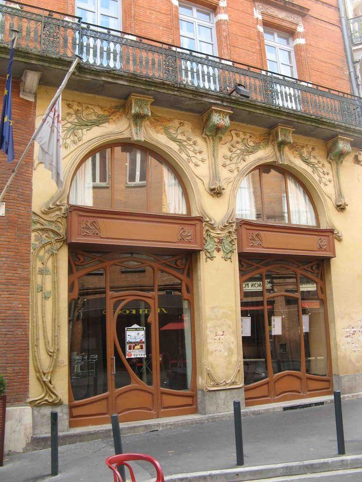 458 best images about art nouveau paris nancy for Architecture toulouse