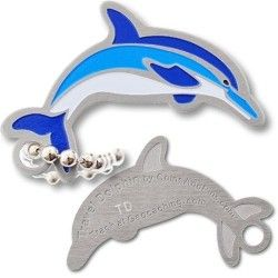 Travel Dolphin Tag check out this awesome Dolphin Tag, so fin-tastic pick one up today @ratherbecaching.ca