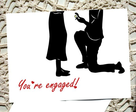 Engagement Card Greeting engaged Congratulations by TheShopSisters,