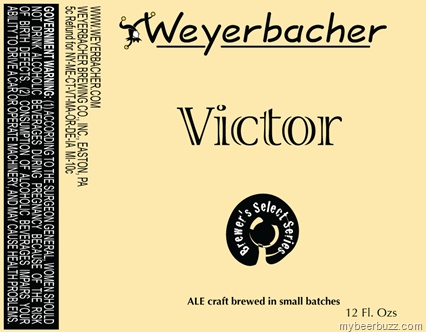 Weyerbacher Victory Coming 4/27