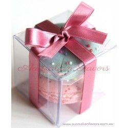 Australian Favors | Clear Cube Wedding Favour Box | Transparent Macaron Wedding Bomboniere Boxes | Macaroon Packaging