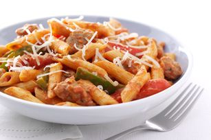 Zesty Penne, Sausage and Peppers recipe -kraftfoods.com