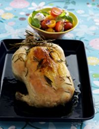 Grillet kylling med tomatsalat