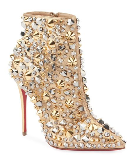 bf80a5f88f7f Christian Louboutin So Full Kate Embellished Red Sole Booties ...