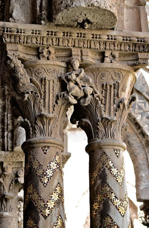 Capitals of the Monreale Cathedral, Sicily Palermo
