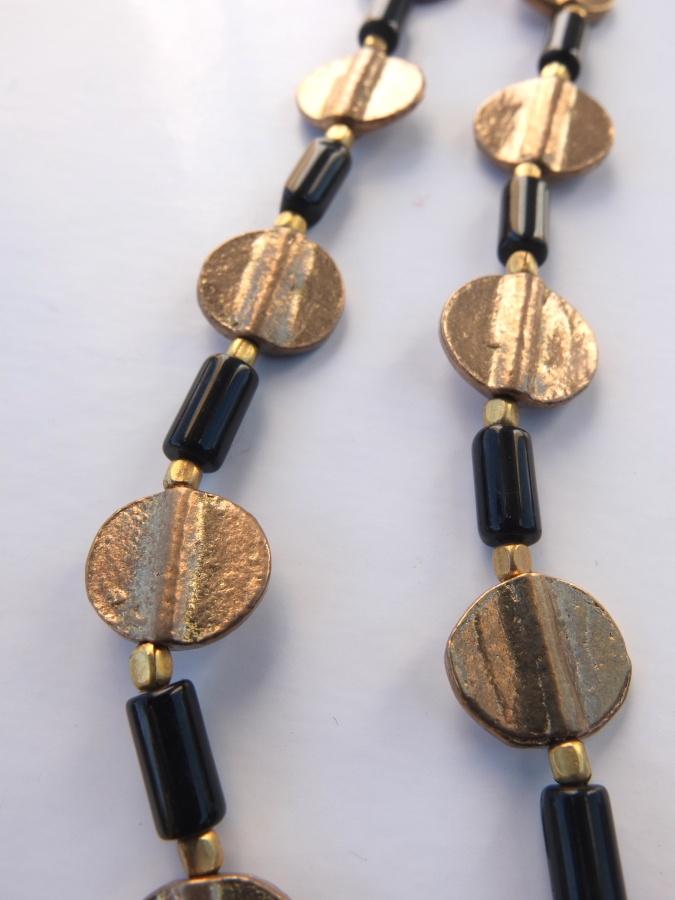 Fine glass w/ cute brass coins.