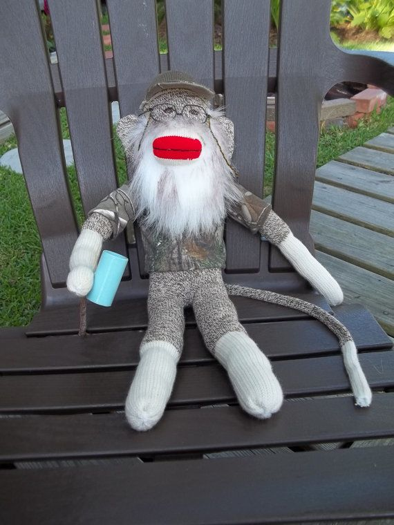 For Daddy Edson--Uncle Si Sock Monkey by UptheSpiralStaircase on Etsy, $50.00