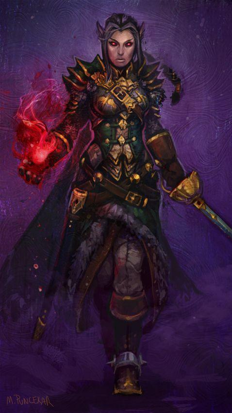 M. Puncekar Illustration: Neverwinter Nights Character Portrait