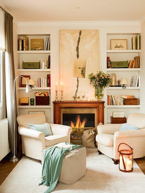 Las 25 mejores ideas sobre librero de chimenea en for Mueble de 5 repisas