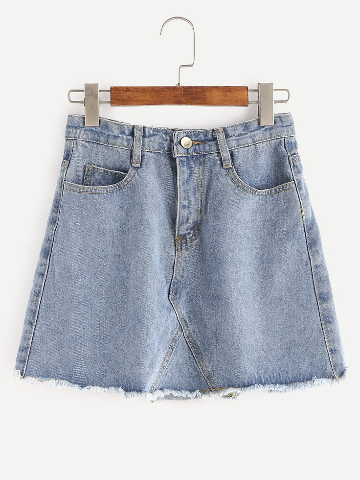 Shop Blue Raw Hem Denim Skirt online. SheIn offers Blue Raw Hem Denim Skirt & more to fit your fashionable needs.
