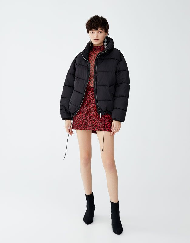 7515552c9a14 Red leopard print mini skirt - pull&bear | Skirt/Dress Outfits | Red ...