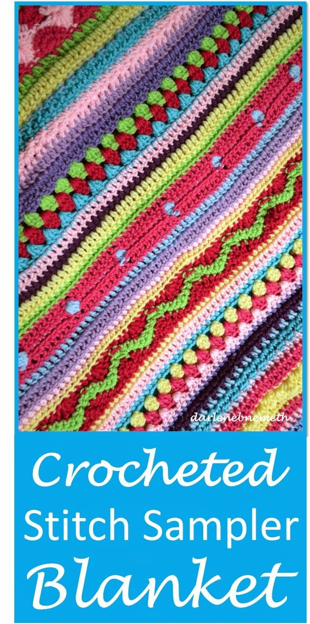 """Received the most """"clicks"""" on the May 2015 #GreatBlogTrain - """"Crocheted Stitch Sampler Blanket by Let it Shine"""