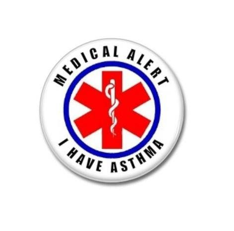 I Have Asthma Medical Alert Button!  #medicalalert #ihaveasthma #button #badge #pin