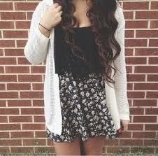 Image result for outfits with black and white skater skirt
