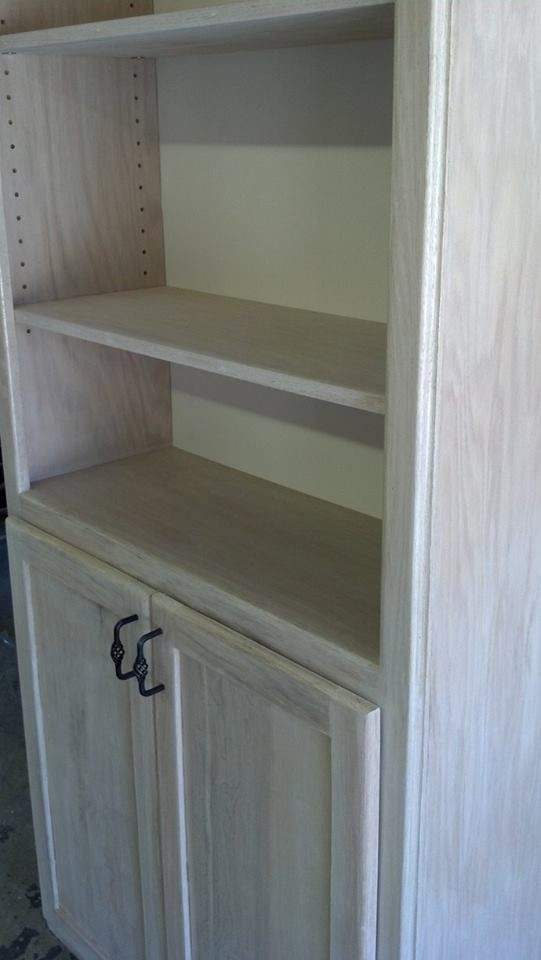 White washed oak bookcase with doors indoor and outdoor furniture pinterest bookcases - Whitewashed oak cabinets ...