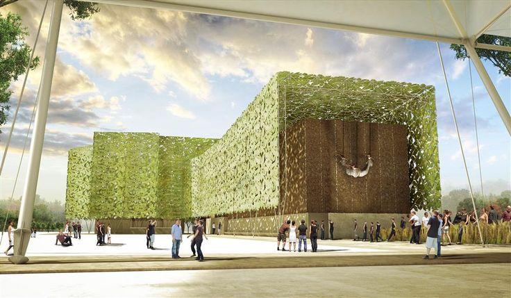 Recreación del Pabellón de España para la Expo Milano 2015 - Vista Cultivos