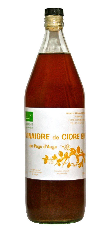 Vinaigre de cidre bio non pasteurisé non filtré sans sulfites et vieilli en fût de chêne.