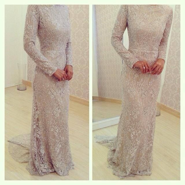 Baju pengantin muslimah lace dress