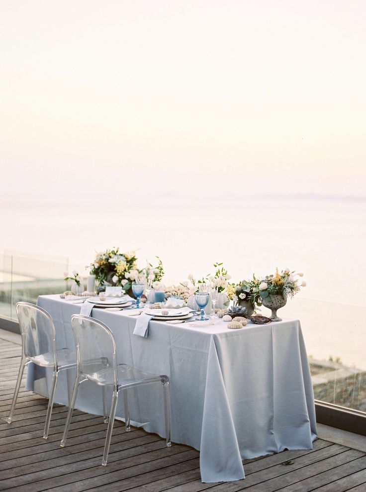 Want to Elope by the Sea? This is Where You Should Do It. Photo by Thecablook Fotolab - Concept, planning & design by I Wish Chic Events - Videography by Nikos Fragoulis - Stationery by Atelier Invitations - Flowers by Studio 7 Flowers - Venue: Villa Achillios in Kea- Rentals from Stylebox Rentals - Tableware from White Lilac Rentals
