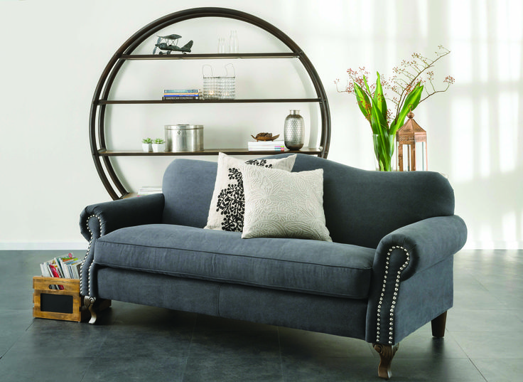 Barocca sofa in vintage charcoal www.earlysettler.com.au