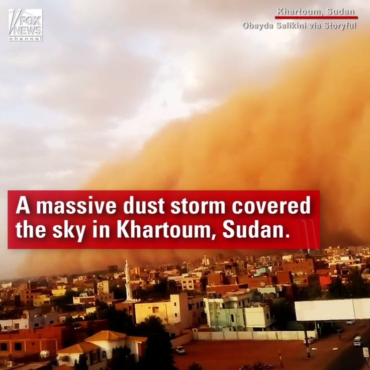 TERRIFYING: The Sudanese capital of Khartoum looked like a scene from an apocalyptic film after a dust storm blanketed the city.