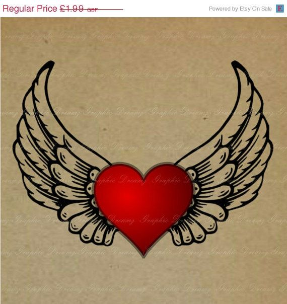 50 OFF SALE INSTANT Download  No.MJ37 Winged by GraphicDreamz, £1.00