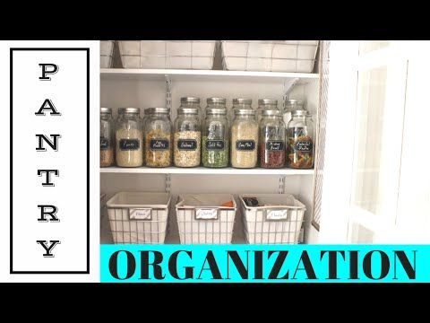 TIPS   Organizing a Pantry - YouTube   At Home with Nikki