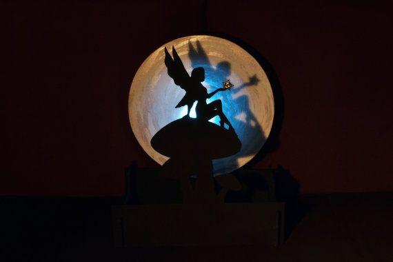 Lampara de Hada con una estrella. Luz ambiental. por WitchDreams