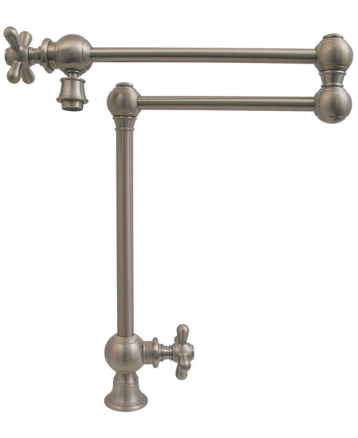 Patented Traditional Deck Mount Vintage III Pot Filler Faucet  WHKPFDCR3 9555 With Cross Handle,