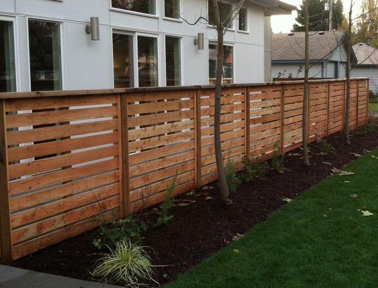 Wood Fence Horizontal Slats Google Search Fences