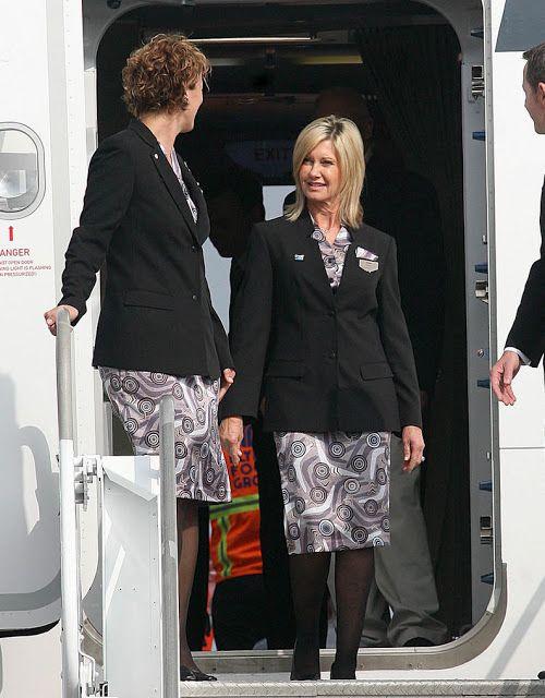Qantas uniform for Olivia Newton-John ~ World stewardess Crews