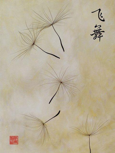 Poster, Leinwandbild »Wind Botanik Blumen Pusteblume Zeichnung«