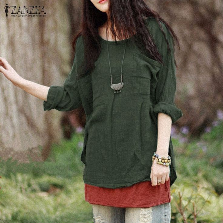 Blusas 2016 Autumn Women Blouses Tops Oversized Casual Loose O Neck Long Sleeve Pockets Cotton Solid Shirts Plus Size Tops-in Blouses & Shirts from Women's Clothing & Accessories on Aliexpress.com | Alibaba Group