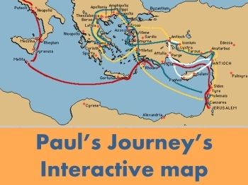 Paul's journeys - interactive maps, part of a script and game package