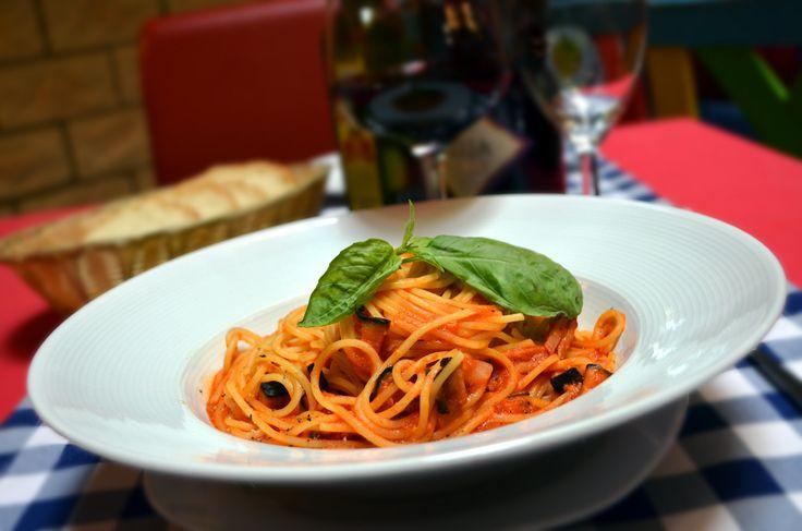 Lunch menu - Spaghetti Amatriciana
