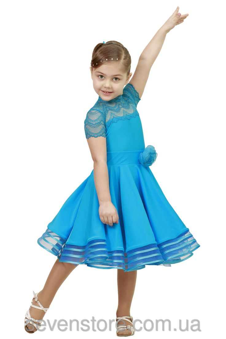 Рейтинговое платье для танцев (бейсик) голубое  - интернет магазин seveNstore в Хмельницком