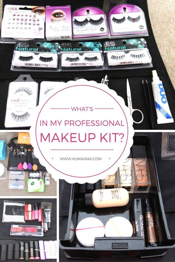 What's In My Professional Makeup Kit? All the things a professional beginner makeup artist needs to start their kit. | Humairak.com