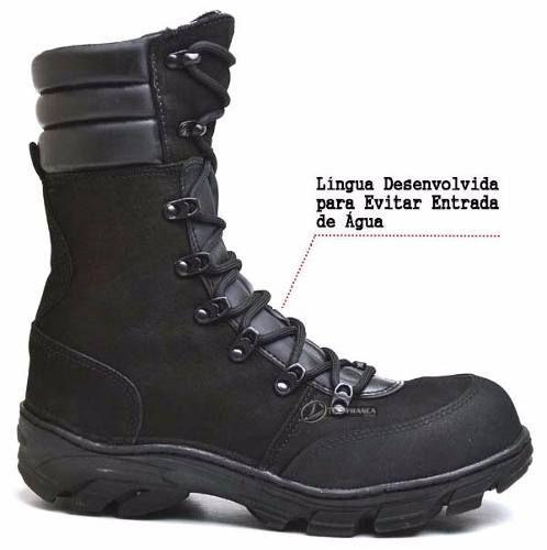 bota militar tatico coturno masculino e feminino couro macio