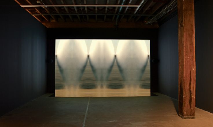 Baden Pailthorpe, Airquake, landscape (Libya), (installation view), 2012, HD video, mirrors, 4 mins 20 sec, Courtesy the artist, Martin Browne Contemporary Sydney and Prudential Eye Awards