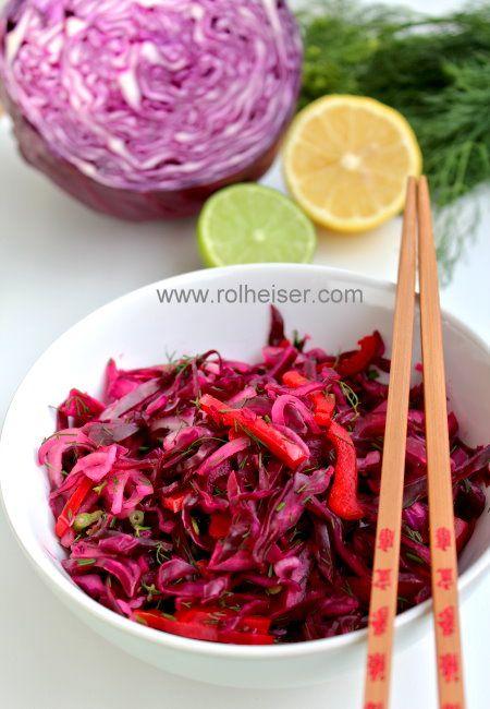 """""""Фиолетовый"""" салат из фиолетовой капусты, фото"""