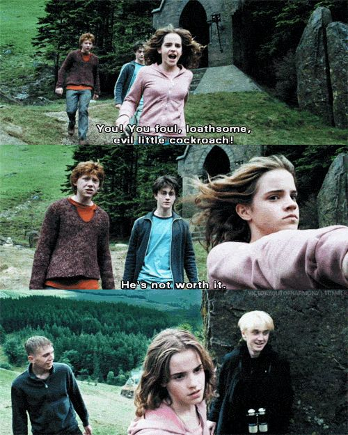 When Hermione clocked Draco and you were just like, GET IT GURL. | 45 Times Harry Potter Fans Lost Their Cool At The Movie Theater