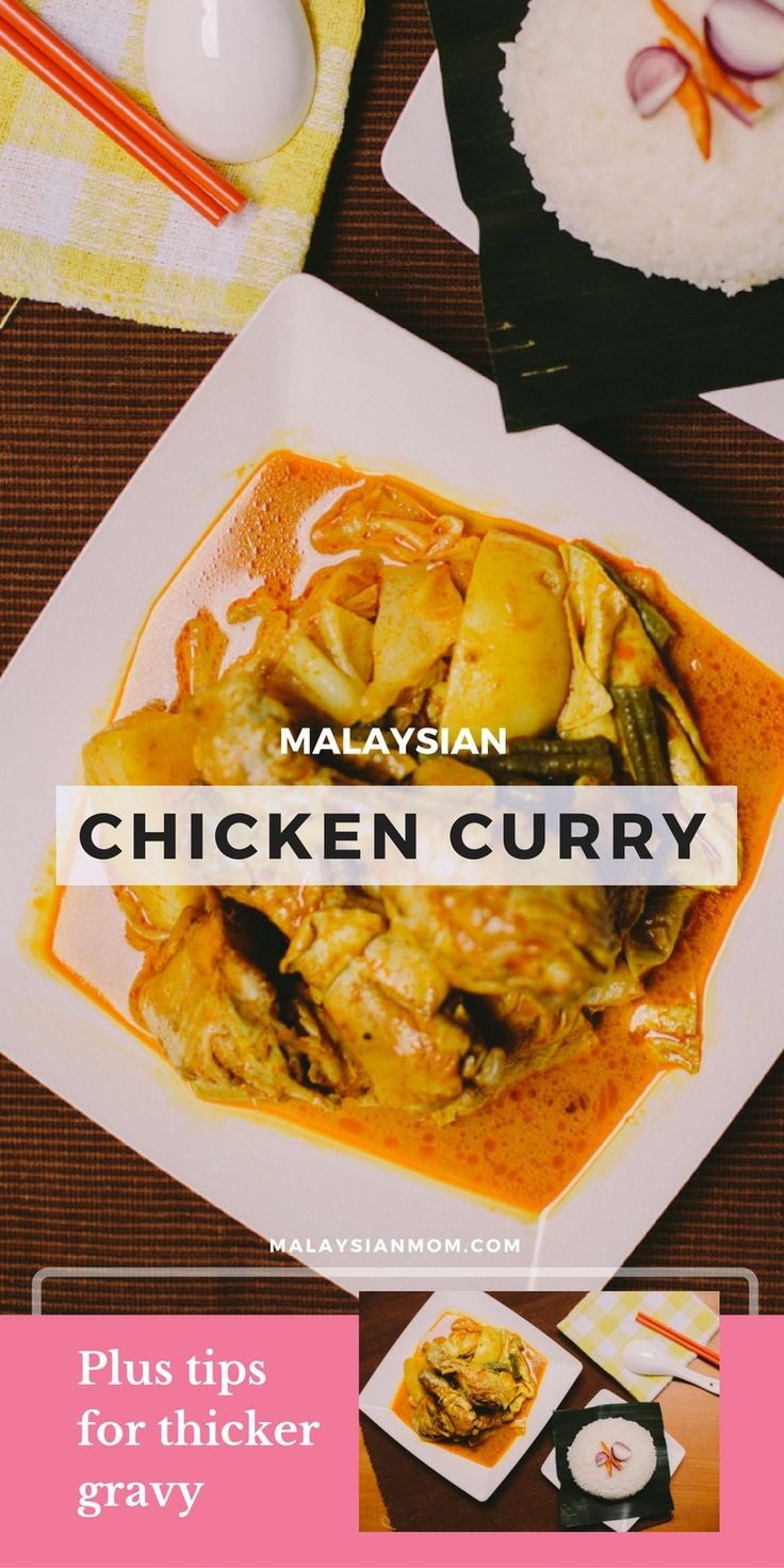 Chicken curry recipe | Coconut milk | One pot with added veggies | more @LewSC Malaysian Mom | Resources for Kids + Moms