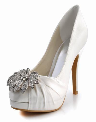 Den nya hand europeiska och amerikanska mode elegant rund topp med satin bröllop skor skor EP2058-