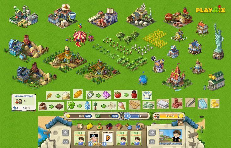 Playrix - Township (flash social) on Behance