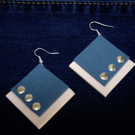 Square orecchini in Moosgummi multicolor  di BibidiCreazioni, €4,50